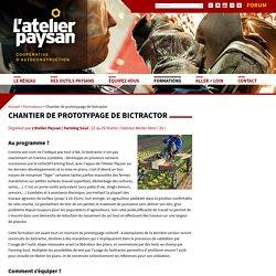 Chantier de prototypage de bictractor - L'Atelier Paysan