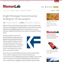 Knight Prototype Fund announces funding for 18 new projects
