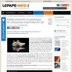 Adidas présente un prototype de chaussures imprimées en 3D
