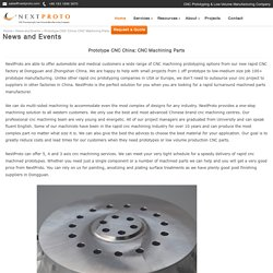 Prototype China: CNC Machining Parts