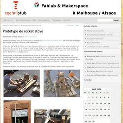 Prototype de rocket stove « TechniStub