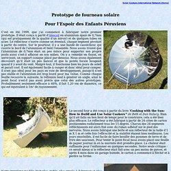 Prototype de fourneau solaire
