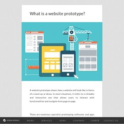 What is a website prototype?