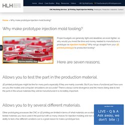 Why make prototype injection mold tooling? - HLH Prototypes Co Ltd