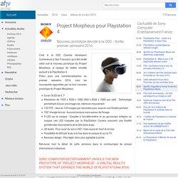 Nouveau prototype du Project Morpheus pour Playstation 4