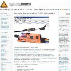 Prototype: Openbench Logic Sniffer logic analyzer