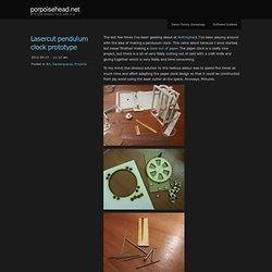 Lasercut pendulum clock prototype