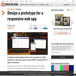 Design a prototype for a responsive web app