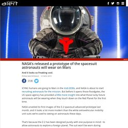 NASA's released a prototype of the spacesuit astronauts will wear on Mars