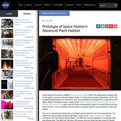 Prototype of Space Station's Advanced Plant Habitat