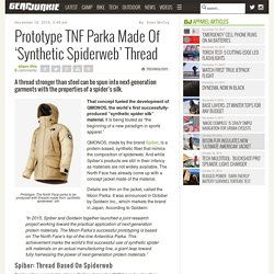 Prototype TNF Parka Made Of 'Synthetic Spiderweb' Thread