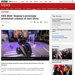 CES 2020: Segway's prototype wheelchair crashes at tech show