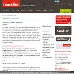 Prototypen: Creatieve brainstorm door Esther de Haan en Eva Beerends - Coachlink.nl