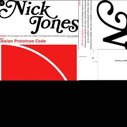 Nick Jones - Design and Code - Interface Designer - JavaScript/CSS/HTML5 Front-End Developer