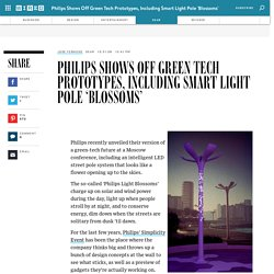 Philips Shows Off Green Tech Prototypes, Including Smart Light Pole 'Blossoms'