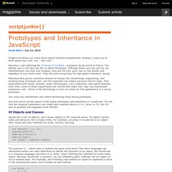 Script Junkie | Prototypes and Inheritance in JavaScript