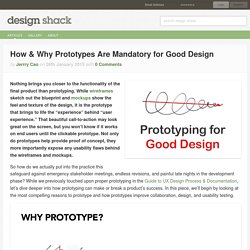 How & Why Prototypes Are Mandatory for Good Design
