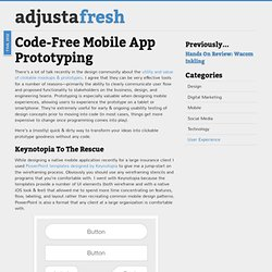 Code-Free Mobile App Prototyping « adjustafresh – user experience design