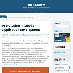 Prototyping in Mobile Application Development