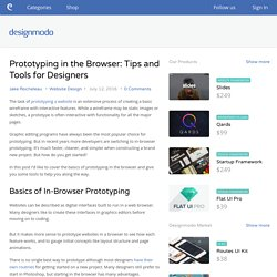 Prototyping in the Browser: Tips and Tools for Designers - Designmodo