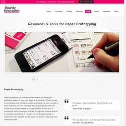 Resources & Tools for Paper Prototyping