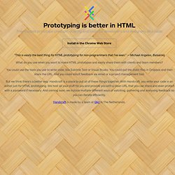 Web-based HTML prototyping software for interaction designers: Handcraft