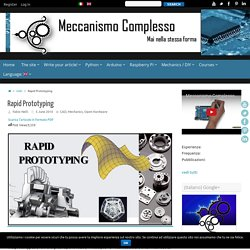 Rapid Prototyping – Meccanismo Complesso