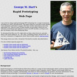 Rapid Prototyping Models --- George W. Hart