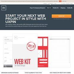 Web Kit: notepads for rapid paper prototyping. UX designer's best friend