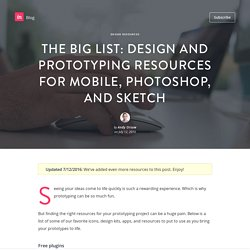 The Big List: 40 Rock Solid Design & Prototyping Resources