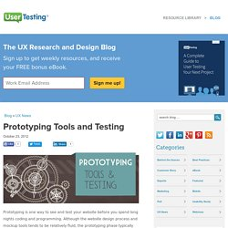 Prototyping Tools and Testing