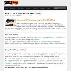 How to Use a USBTiny with Atmel StudioHow to Use a USBTiny with Atmel Studio