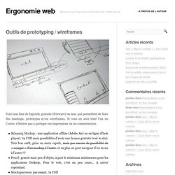 Outils de prototyping / wireframes