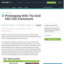 Prototyping With The Grid 960 CSS Framework