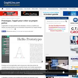 Prototypo, l'appli pour créer sa propre police