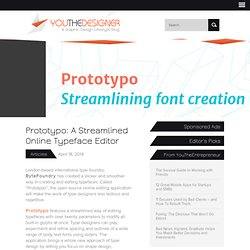 Prototypo: A Streamlined Online Font Editor