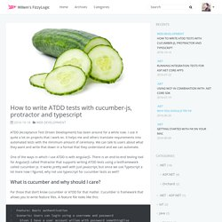 How to write ATDD tests with cucumber-js, protractor and typescript
