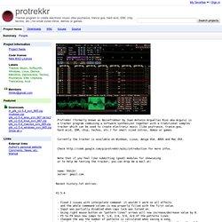 protrekkr - Tracker program to create electronic music (like psytrance, trance goa, hard acid, IDM, chip, techno, etc.) for small sized intros, demos or games.