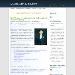PROUST, Marcel – À la recherche du temps perdu (Œuvre intégrale)