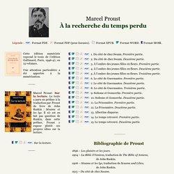 Proust - À la recherche du temps perdu