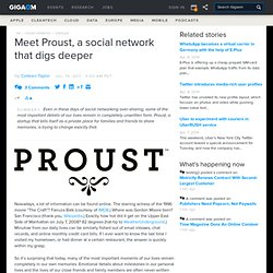 Meet Proust, a social network that digs deeper