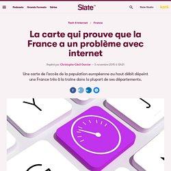 La carte qui prouve que la France a un problème avec internet