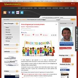 Prove d'ingresso per la scuola primaria