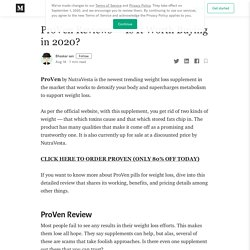 ProVen Reviews- Is It Worth Buying in 2020?