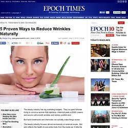 5 Proven Ways to Reduce Wrinkles Naturally