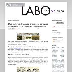 Des millions d'images provenant de livres numérisés disponibles et libres de droit
