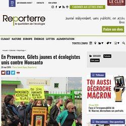 En Provence, Gilets jaunes et écologistes unis contre Monsanto