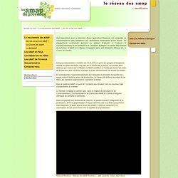 Les AMAP de Provence - Réseau régional du MIRAMAP