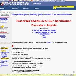 Proverbes français avec leur traduction en anglais
