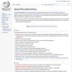 Anexo:Proverbios latinos